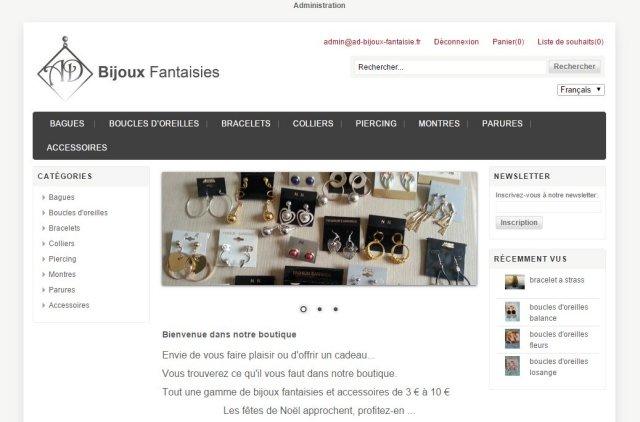 la meilleure attitude db32b 0fb22 Site e-Commerce AD Bijoux Fantaisie - ESOFT Studio